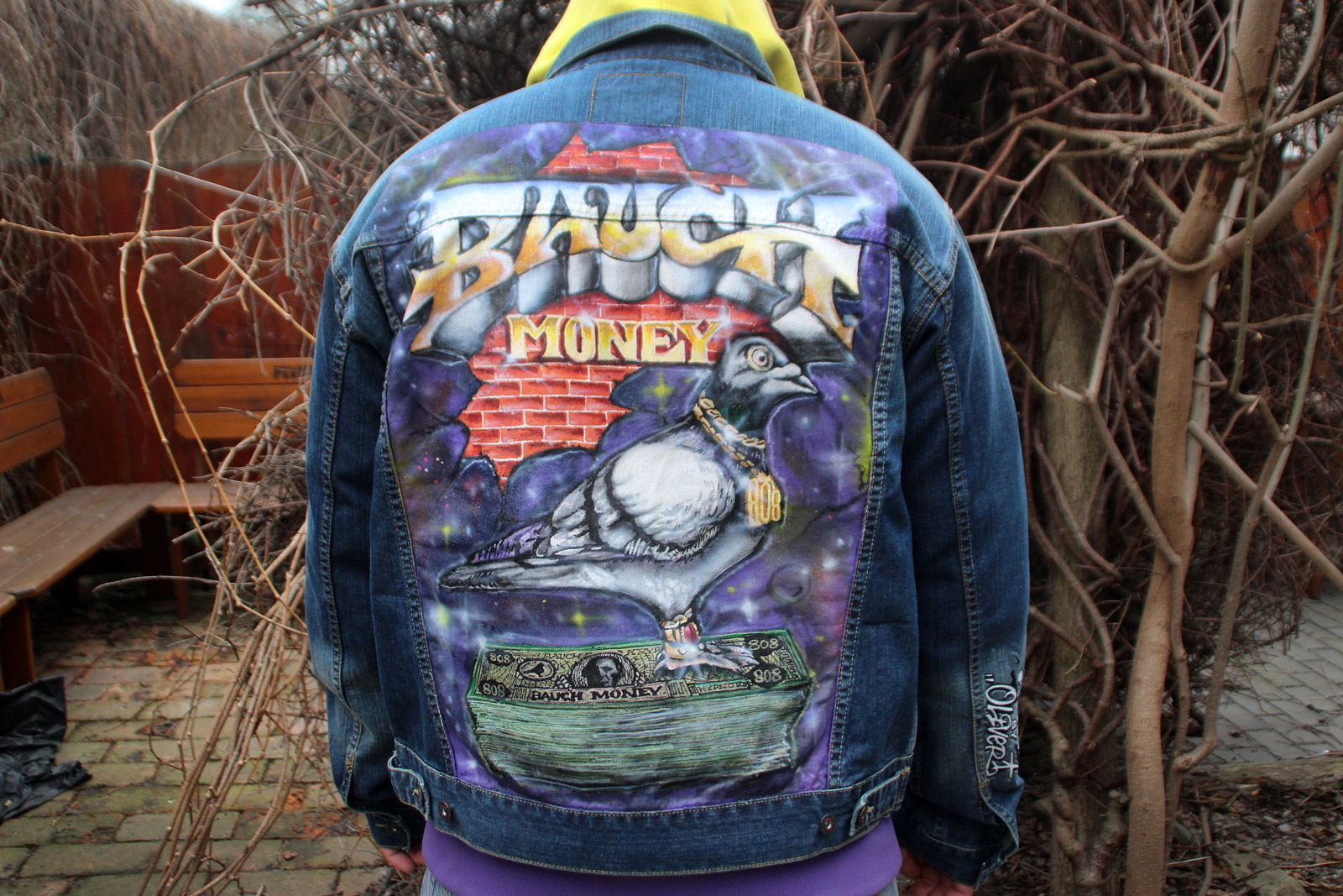 Bunda Bauch Money ručně malovaná