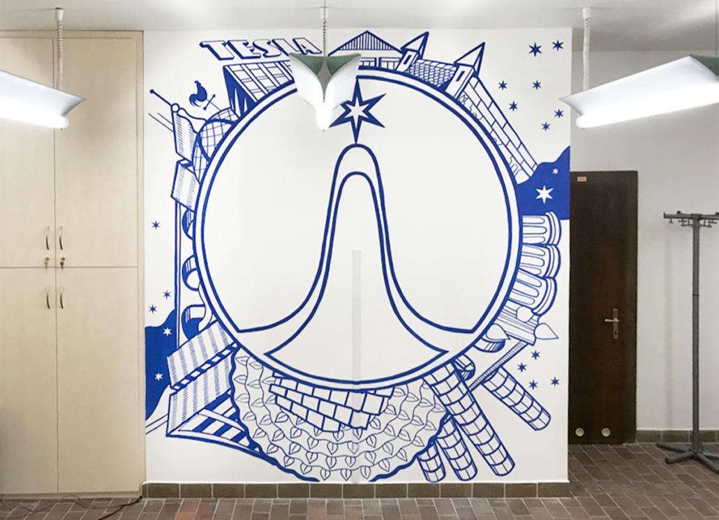 Walldesign Tesla - malba nazeď